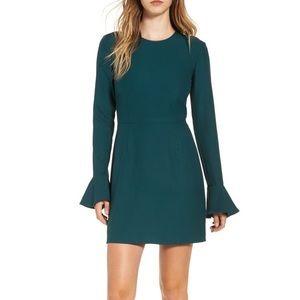 Leith bell sleeve sheath dress